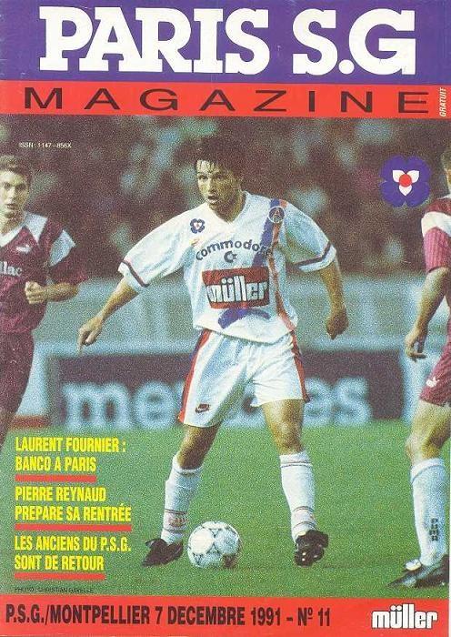 1991-12-07  PSG-Montpellier (21ème D1, Paris SG Magazine N°11)