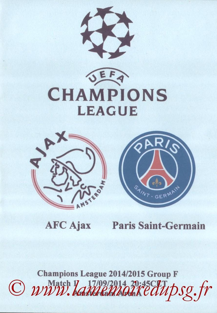 2014-09-17  Ajax-PSG (1ère Poule C1, Programme pirate)