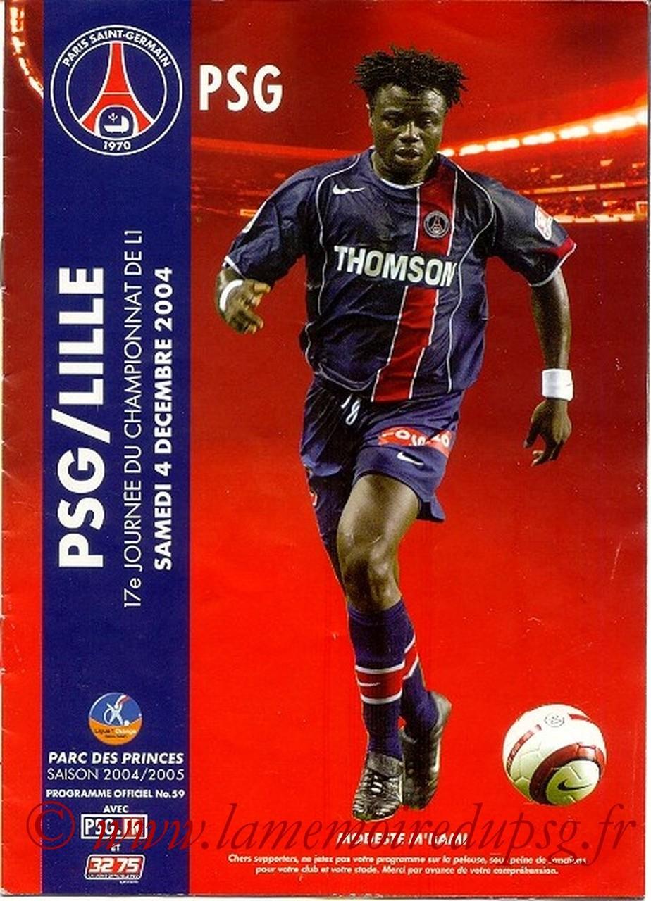 2004-12-04  PSG-Lille (17ème L1, Officiel N°59)