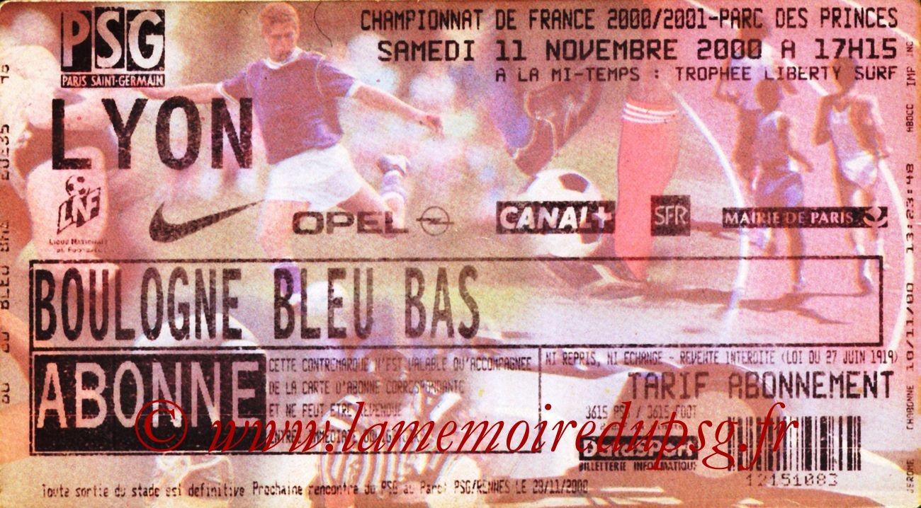 2000-11-11  PSG-Lyon (15ème D1)