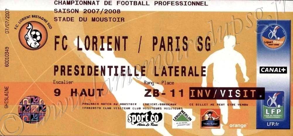 2008-01-19  Lorient-PSG (21ème L1)