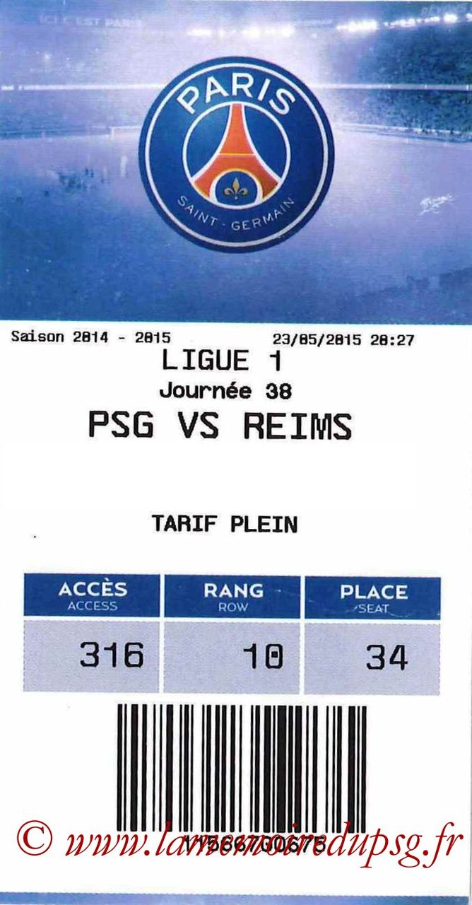 2015-05-23  PSG-Reims (38ème L1, E-ticket)