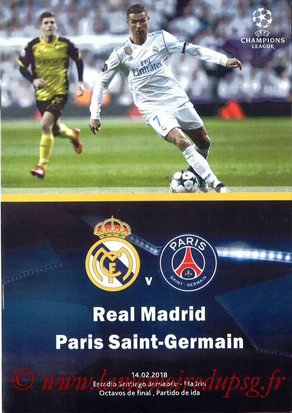 2018-02-14  Real Madrid-PSG (8ème C1 aller, Programme pirate)