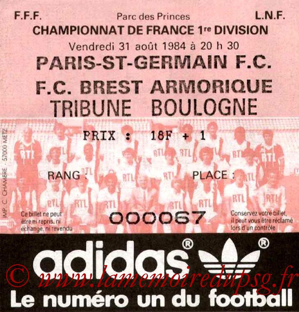1984-08-31  PSG-Brest (5ème D1)