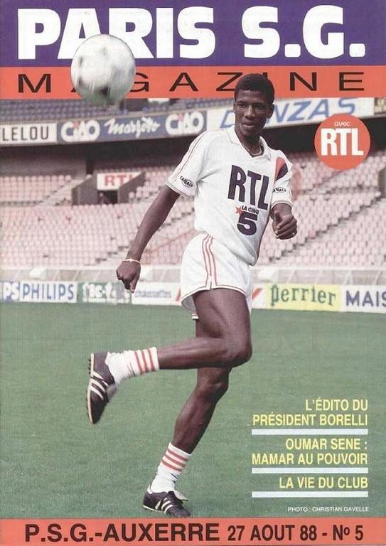 1988-08-27  PSG-Auxerre (9ème D1, Paris SG Magazine N°5)