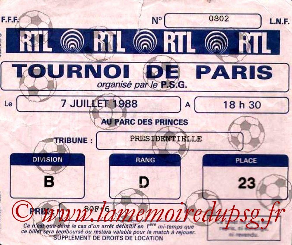 1988-07-07  PSG-Montpellier (Finale Tournoi de Paris)