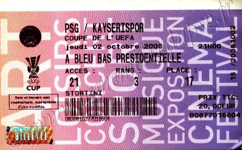 2008-10-02  PSG-Kayserispor (1er Tour Retour C3, Billetel)