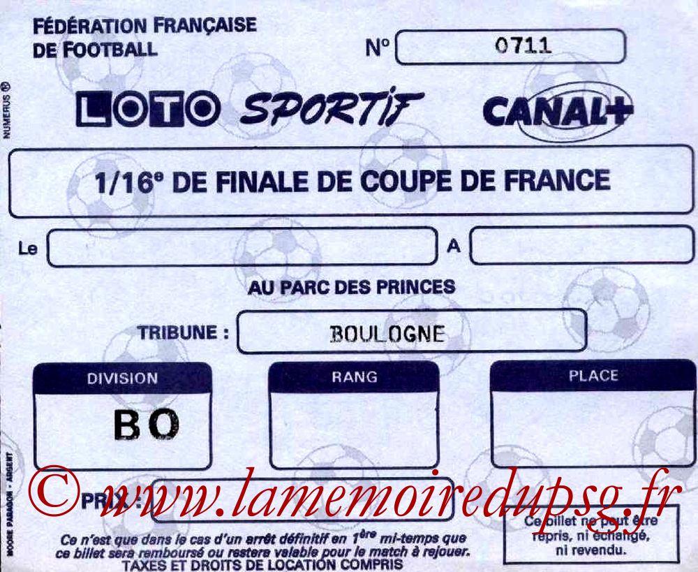 1988-03-30  PSG-Sochaux (16ème Finale Aller CF, sans nom)