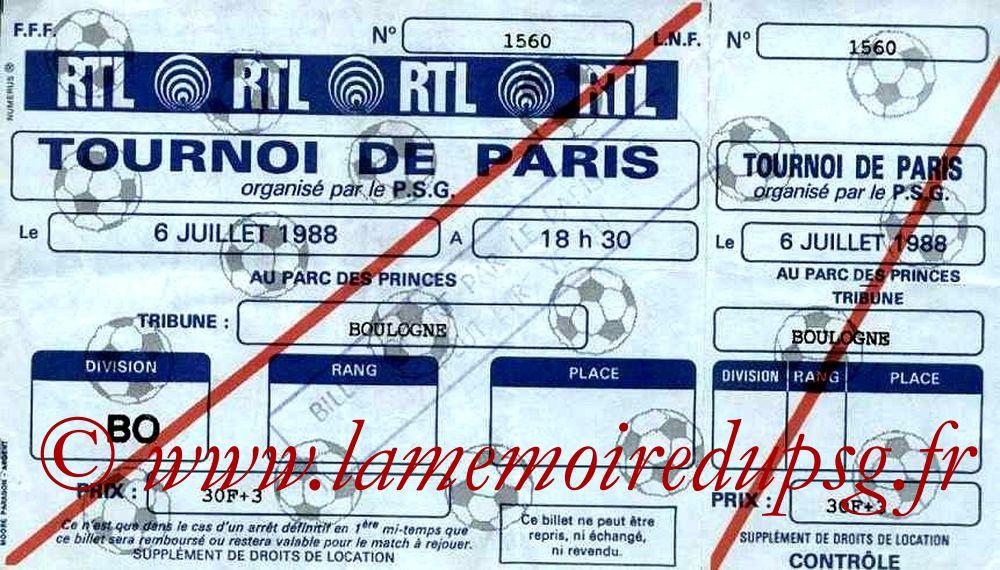 1988-07-06  PSG-Servette Geneve (Demi Finale Tournoi de Paris)