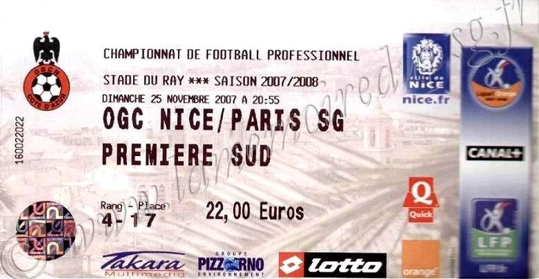 2007-11-25  Nice-PSG (15ème L1)