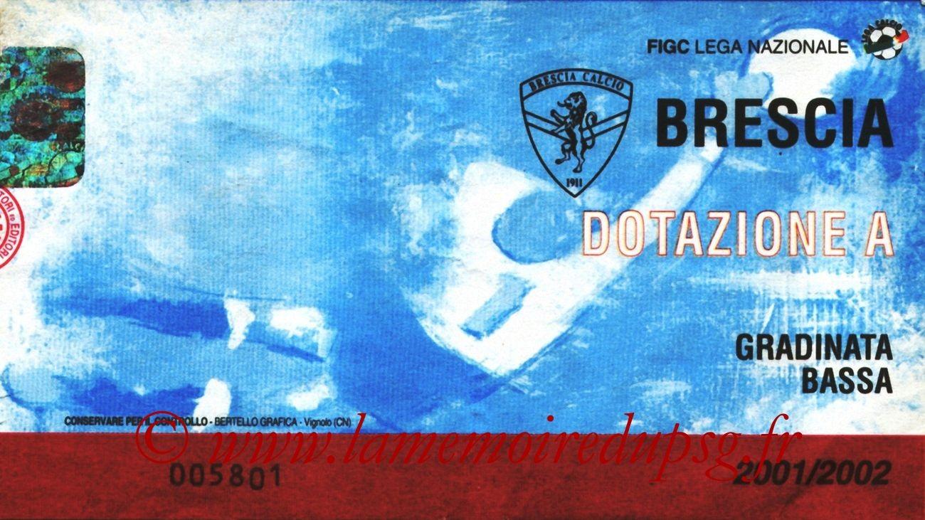 2001-08-21  Brescia-PSG (Finale Retour Intertoto, Sans nom)