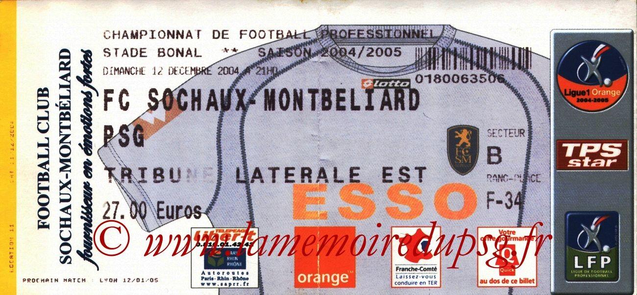 2004-12-11  Sochaux-PSG (18ème L1)