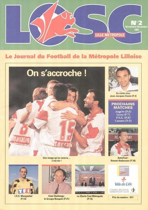 1993-12-03  Lille-PSG (20ème D1, LOSC Metropole N° 2)
