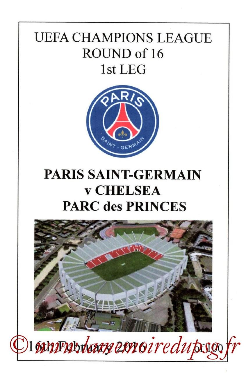 2016-02-16  PSG-Chelsea (8ème C1 Aller, Programme pirate3)