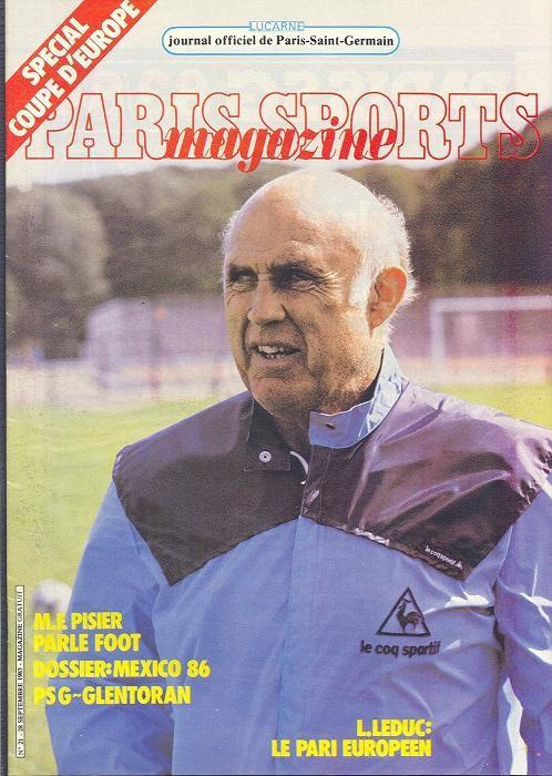 1983-09-28  PSG-Glentoran (16ème Retour C2, Paris Sports Magazine N°21)