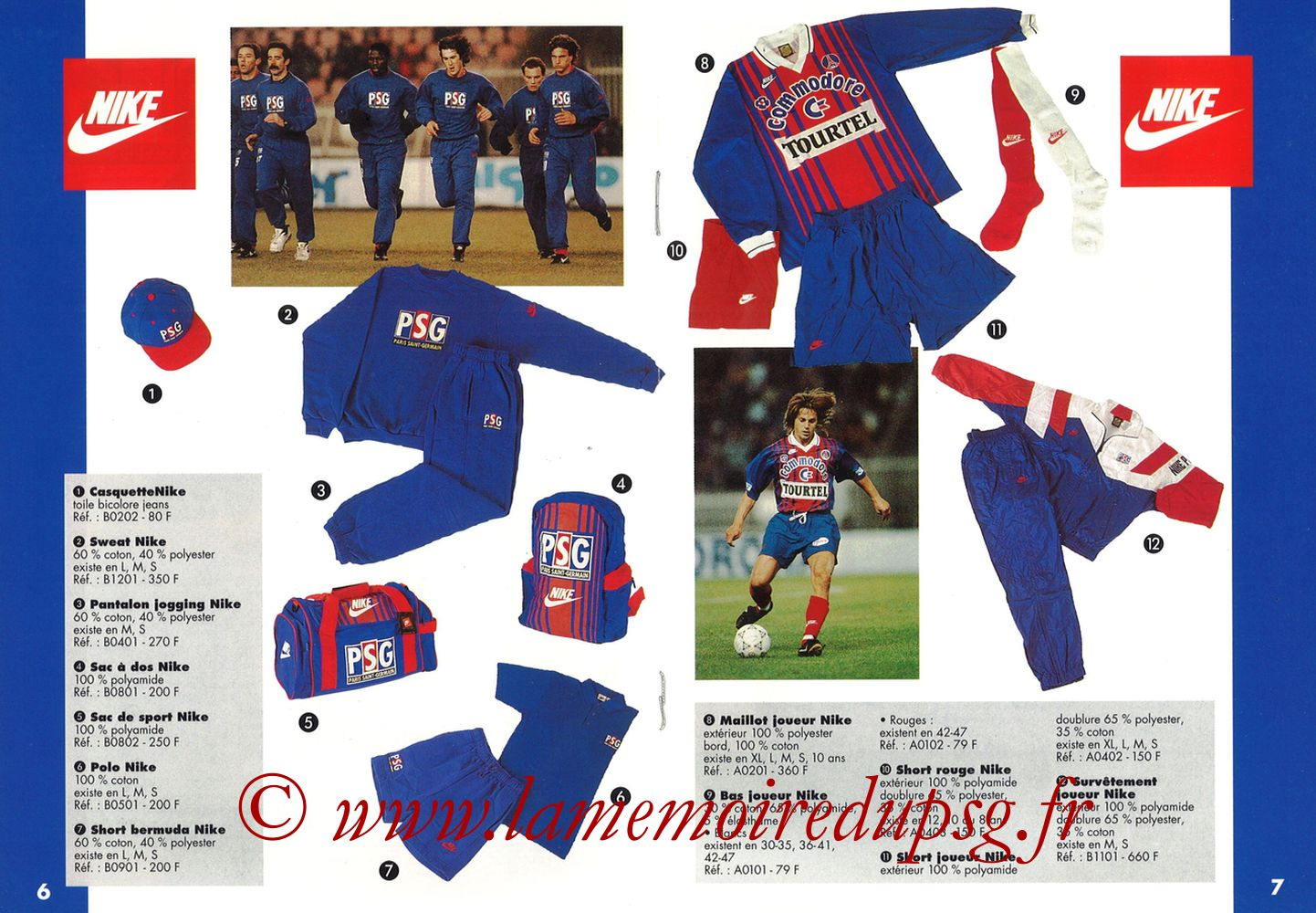 Catalogue PSG - 1993-94 - Pages 06 et 07