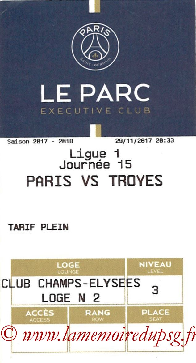 2017-11-29  PSG-Troyes (15ème L1, E-ticket Executive club)