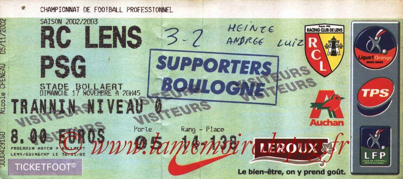 2002-11-17  Lens-PSG (15ème L1, bis)