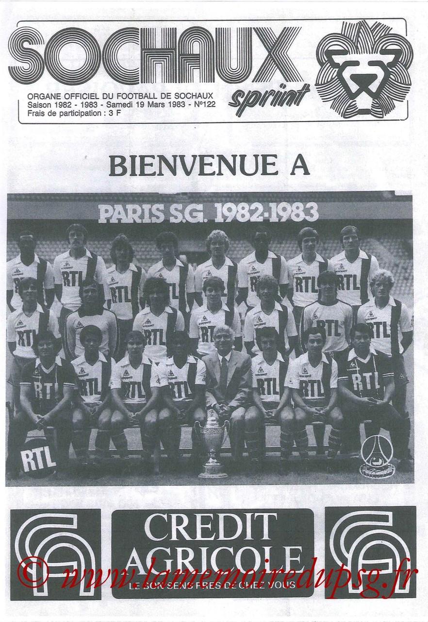 1983-03-19  Sochaux-PSG (28ème D1, Sochaux Sprint N°122 que je n'ai pas)