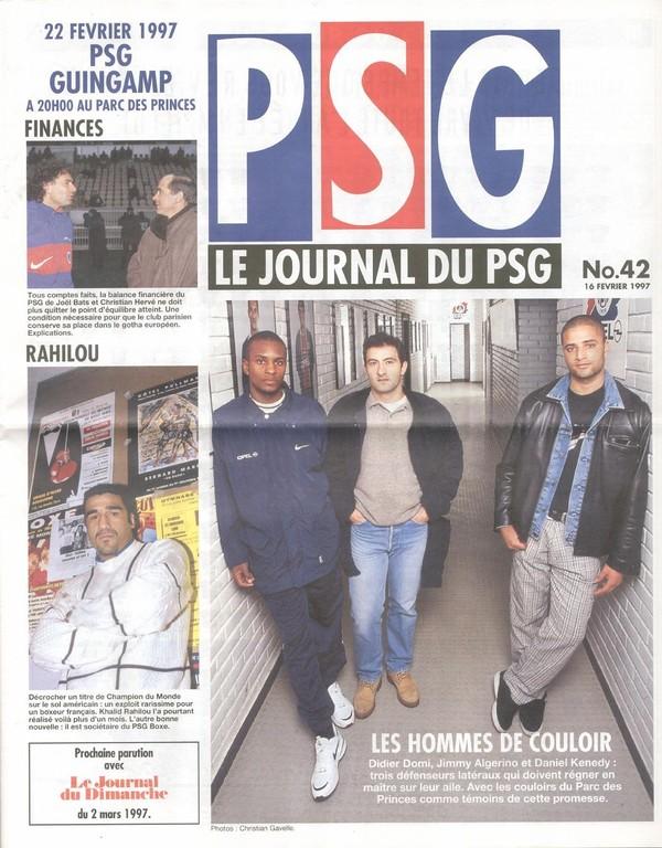 1997-02-22  PSG-Guingamp (27ème D1, Le Journal du PSG N°42)