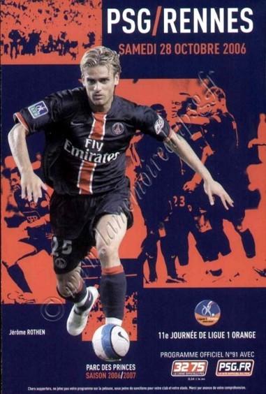 2006-10-28  PSG-Rennes (11ème L1, Officiel N°91)