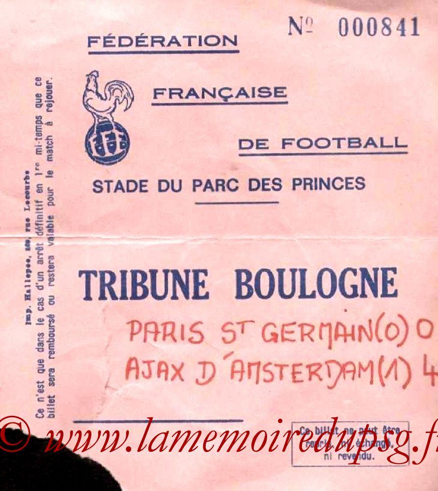 1977-03-09  PSG-Ajax Amsterdam (Amical au Parc des Princes)