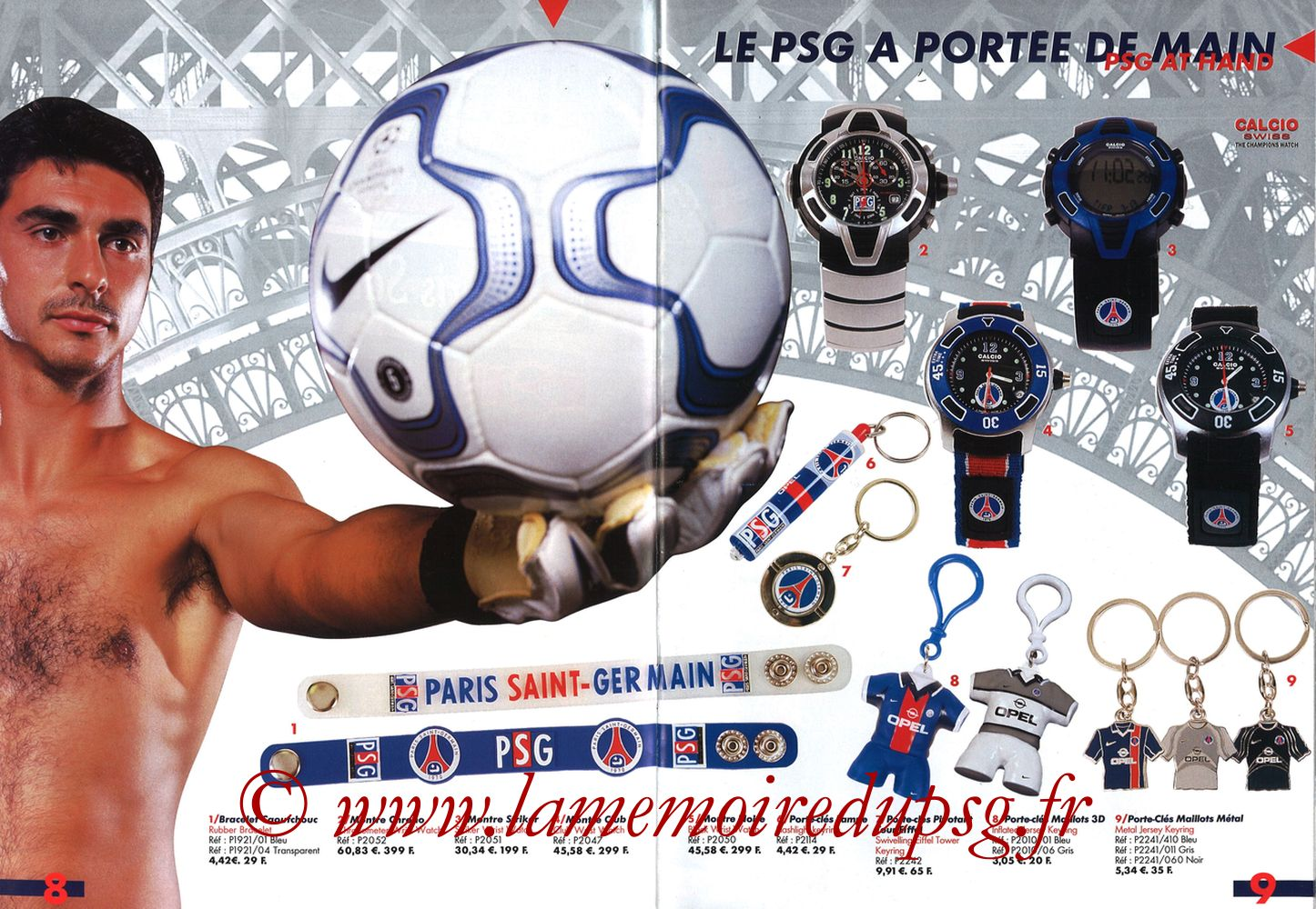 Catalogue PSG - 2001-02 - Pages 08 et 09