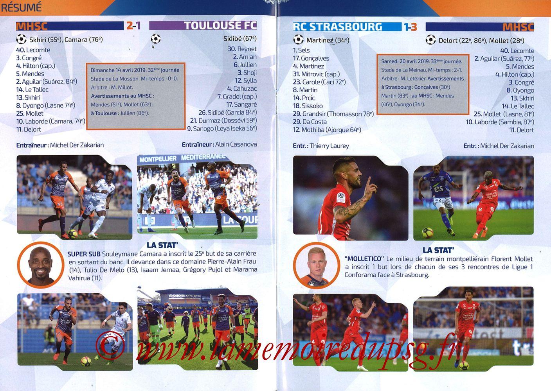 2019-04-30  Montpellier-PSG (34ème L1, L'Echo de la Mosson N°17) - Pages 08 et 09