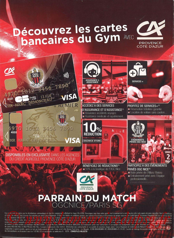 2018-03-18  Nice-PSG (30ème L1, OGC Nice Mag N°306) - Pages 28