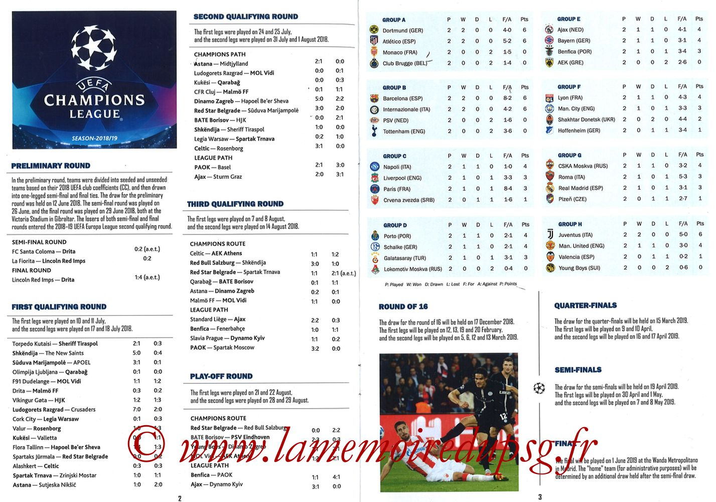 2018-10-24  PSG-Naples (3ème Poule C1, Programme pirate) - Pages 02 et 03