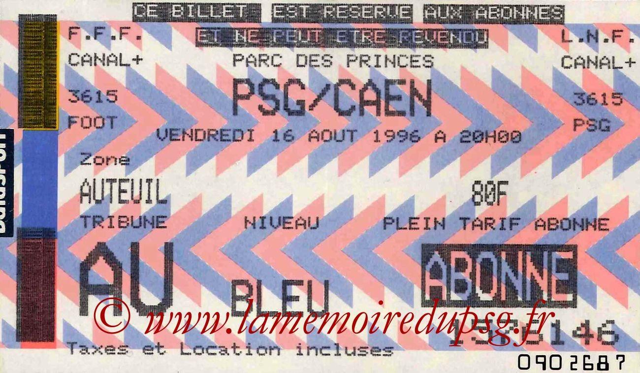1996-08-16  PSG-Caen (2ème D1)