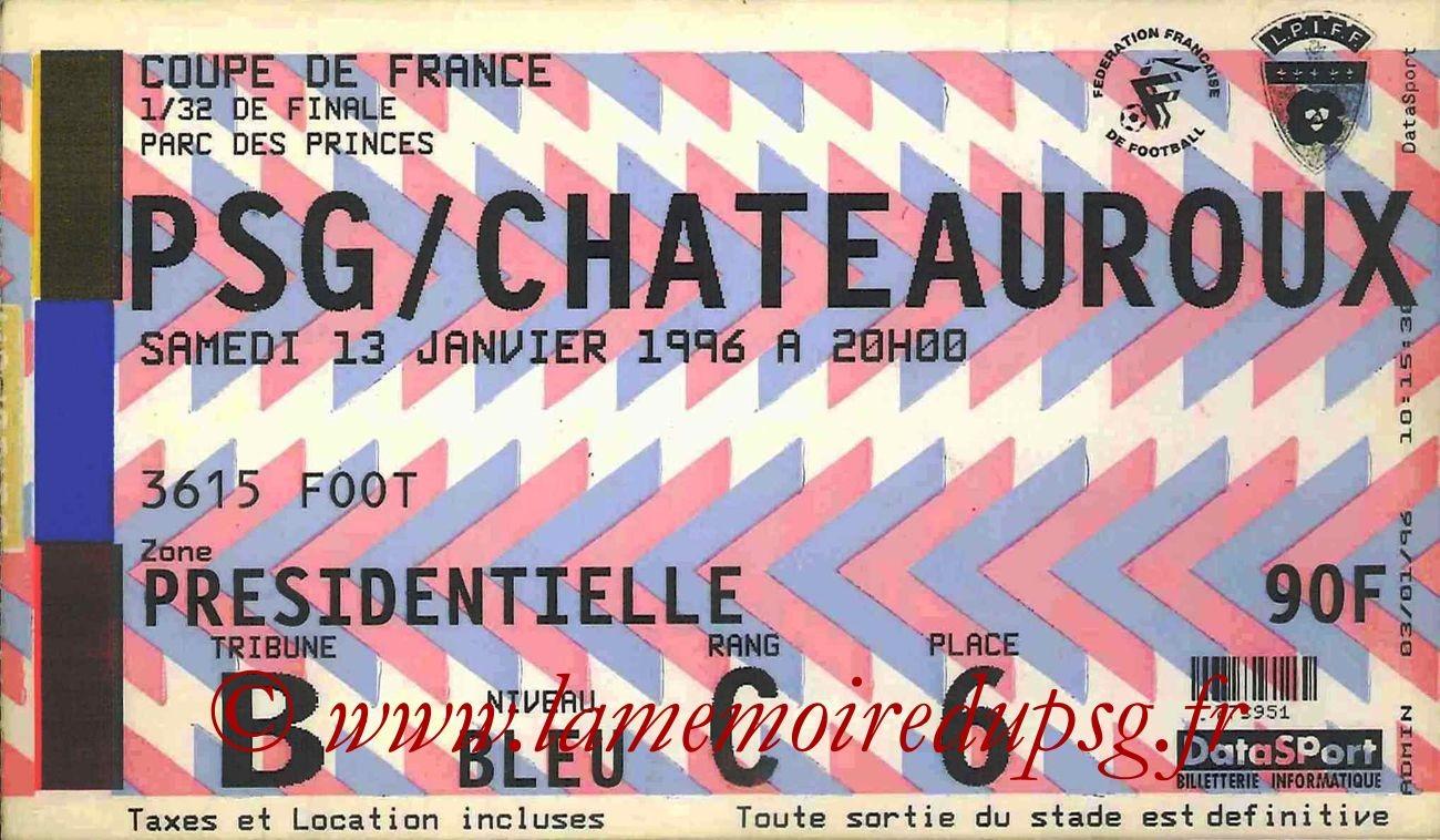 1996-01-13  PSG-Chateauroux (32ème Finale CF)