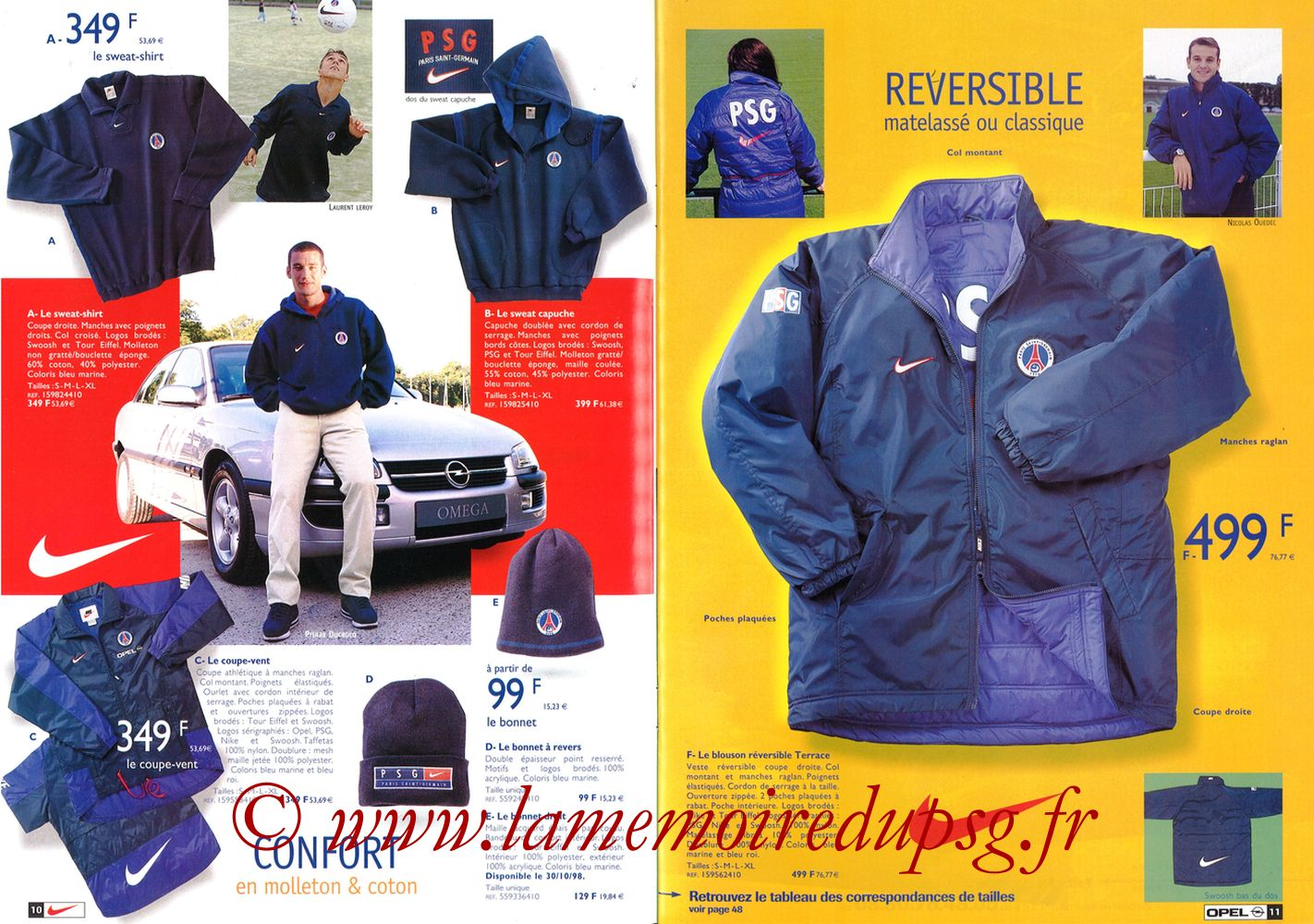 Catalogue PSG - 1998-99 - Pages 10 et 11