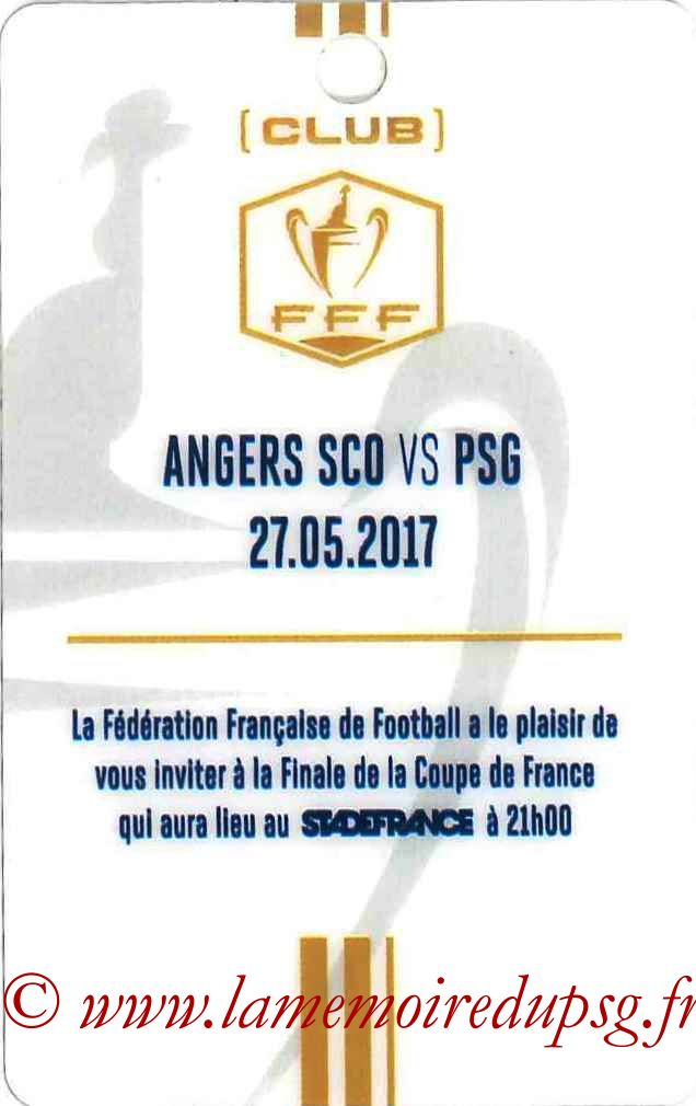 2017-05-27  Angers-PSG (Finale CF à Saint-Denis, Invitation)