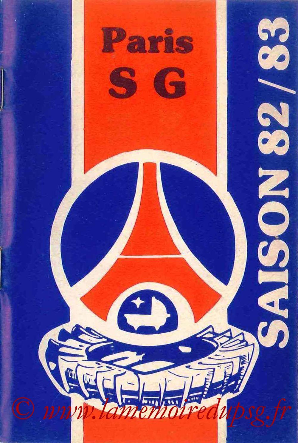 1982-83 - Guide de la Saison PSG - Couverture