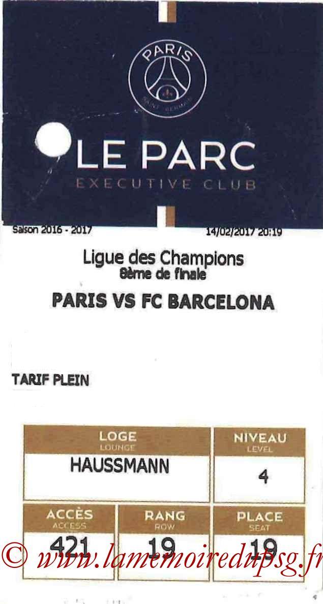 2017-02-14  PSG-Barcelone (8ème Aller C1, E-ticket Executive club)