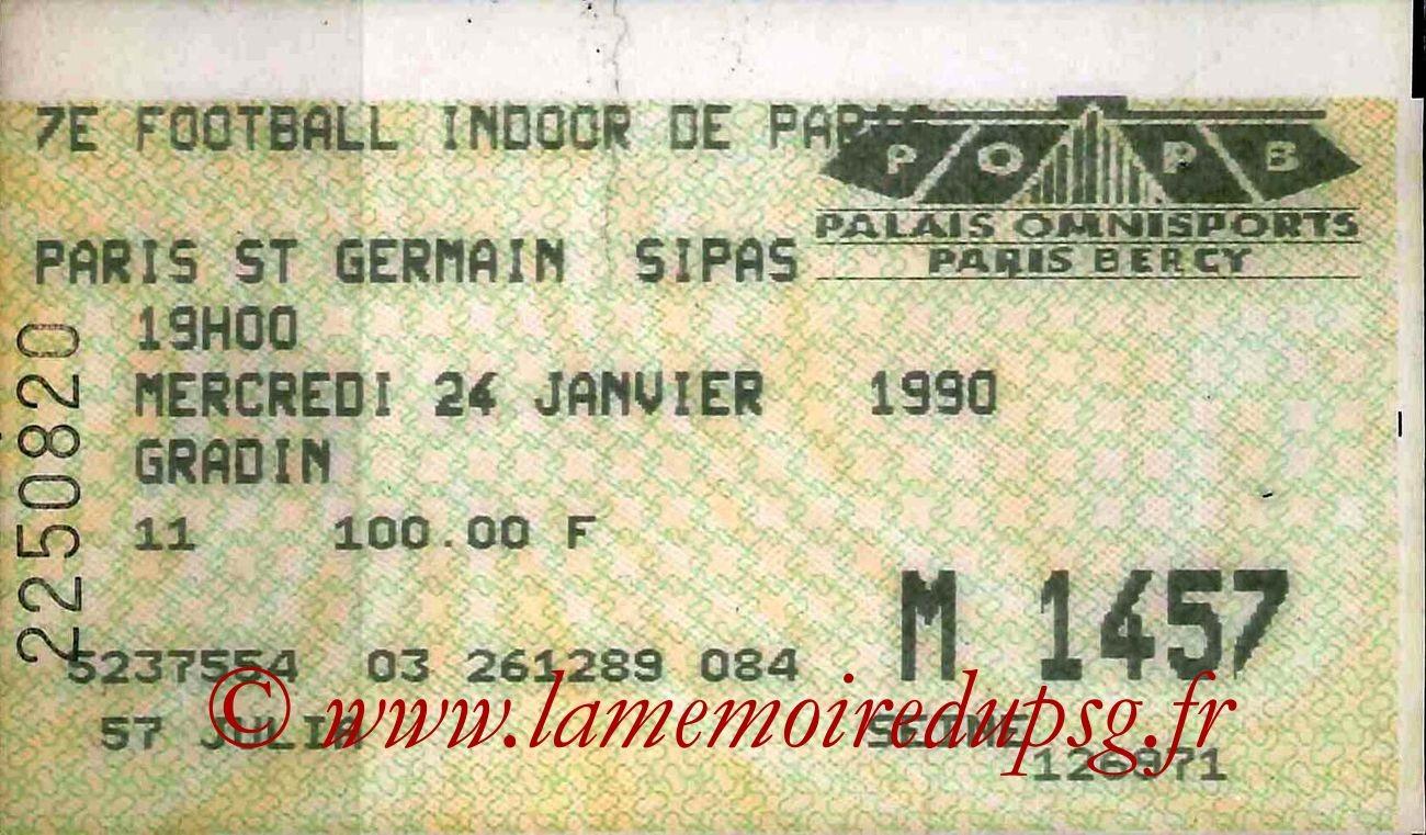 1990-01-24  7ème Football indoor à Bercy (2ème journée)