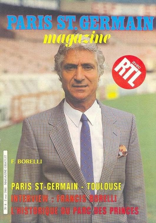 1984-05-02  PSG-Toulouse (38ème D1, Paris St Germain Magazine N°8)
