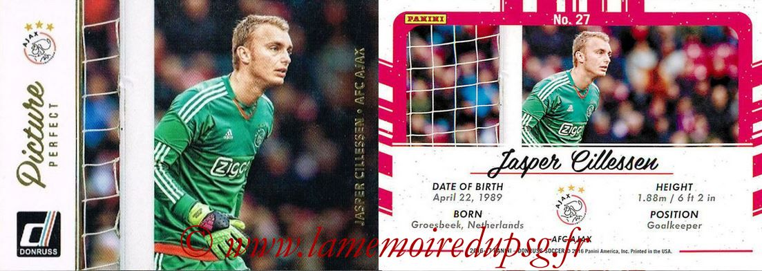 2016 - Panini Donruss Cards - N° PP27 - Jasper CILLESSEN (AFC Ajax) (Picture Perfect)