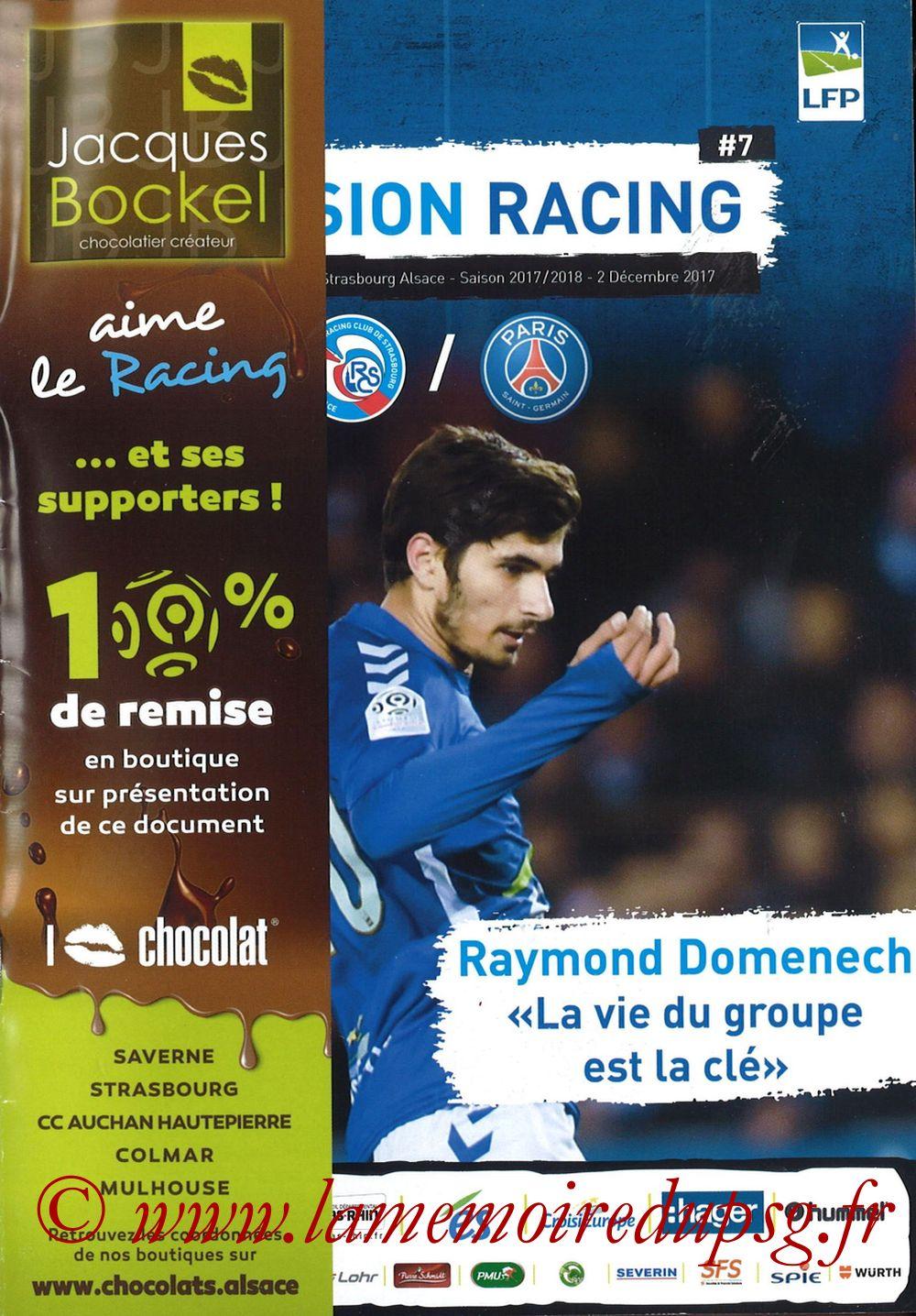 2017-12-02  Strasbourg-PSG (16ème L1, Passion Racing N°7) - Page 01