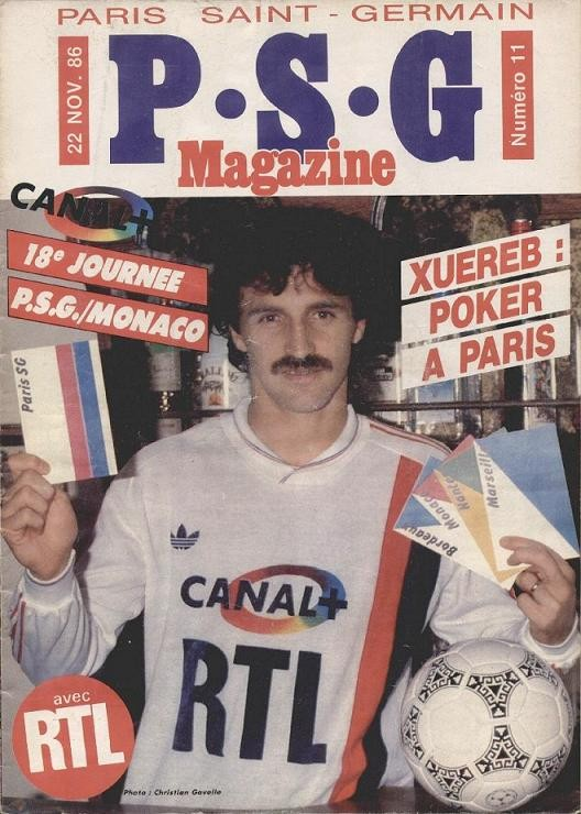1986-11-22  PSG-Monaco (18ème D1, PSG Magazine N°11)