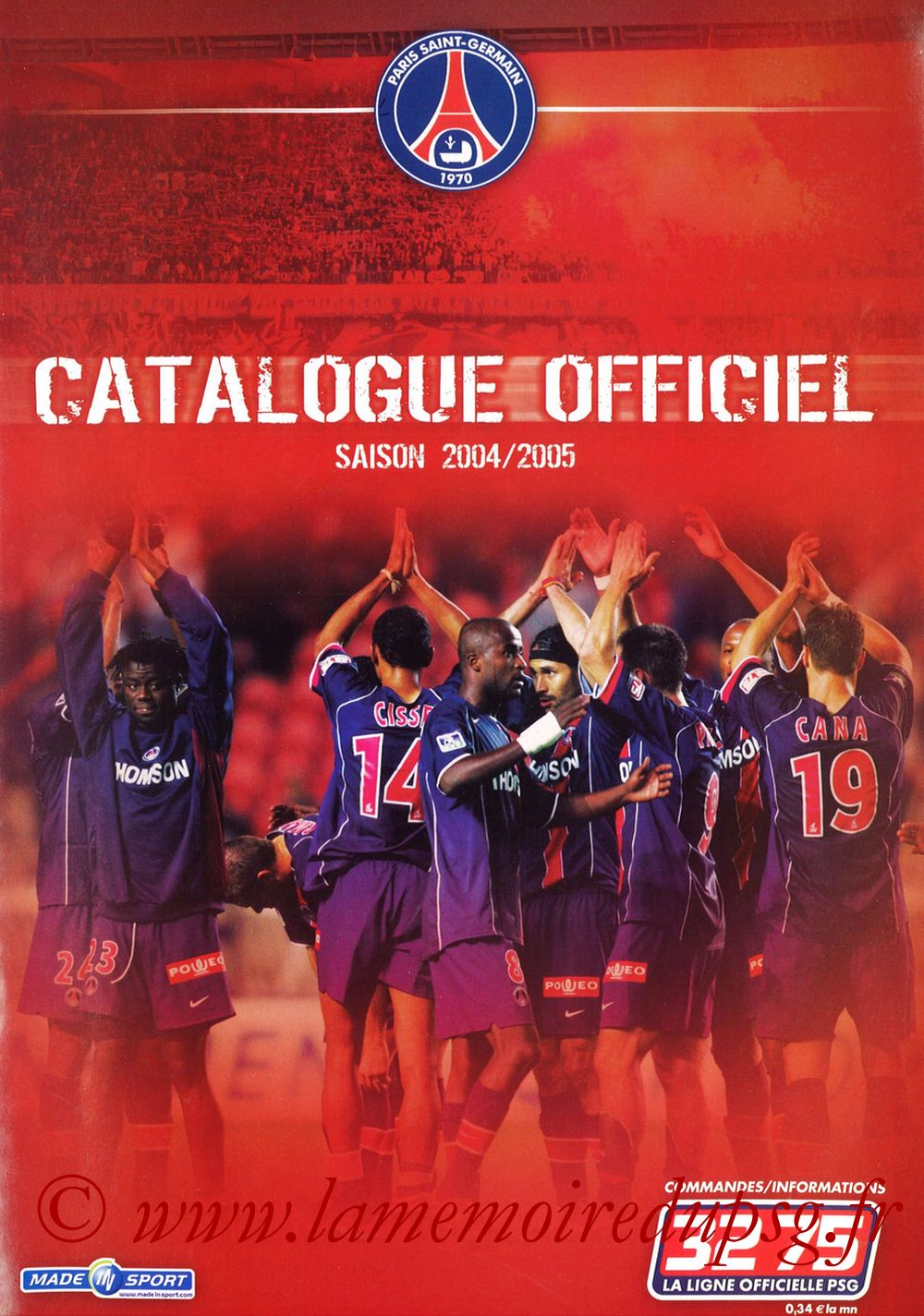 Catalogue PSG - 2004-05