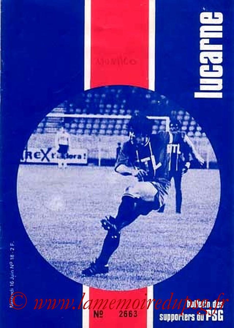 1976-06-16  PSG-Monaco  (37ème D1, Lucarne N°18)