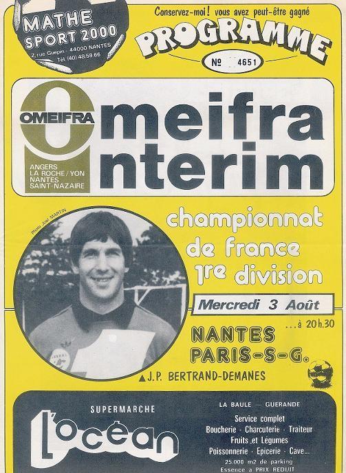 1983-08-03  Nantes-PSG (3ème D1, Programme Officiel)
