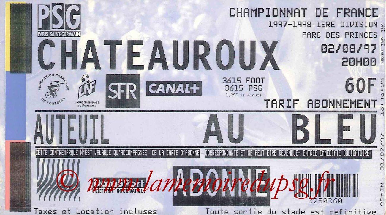 1997-08-02  PSG-Chateauroux (1ère D1)