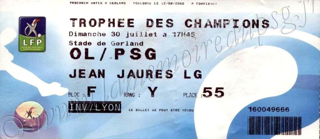 2006-07-30  Lyon-PSG (Trophée des champions)