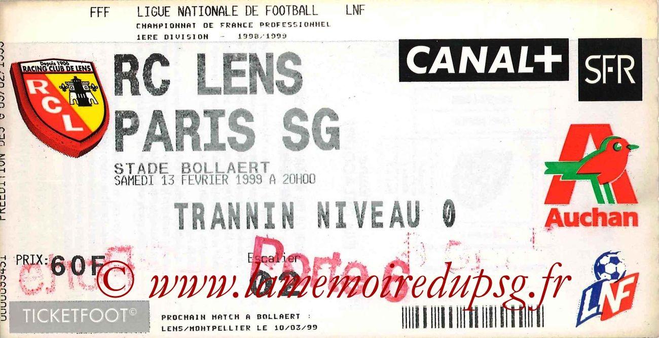 1999-02-13  Lens-PSG (24ème D1)