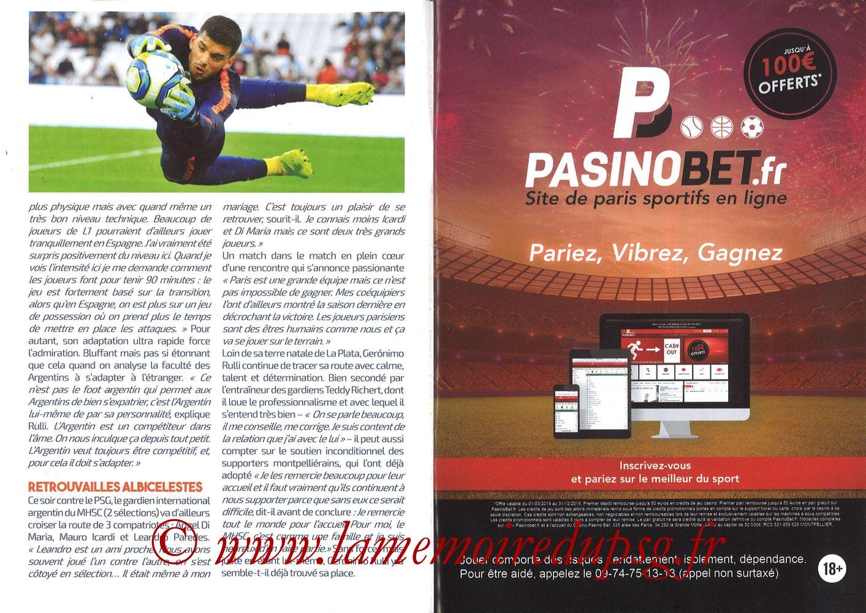 2019-12-07  Montpellier-PSG (17ème L1, L'Echo de la Mosson N°9) - Pages 06 et 07