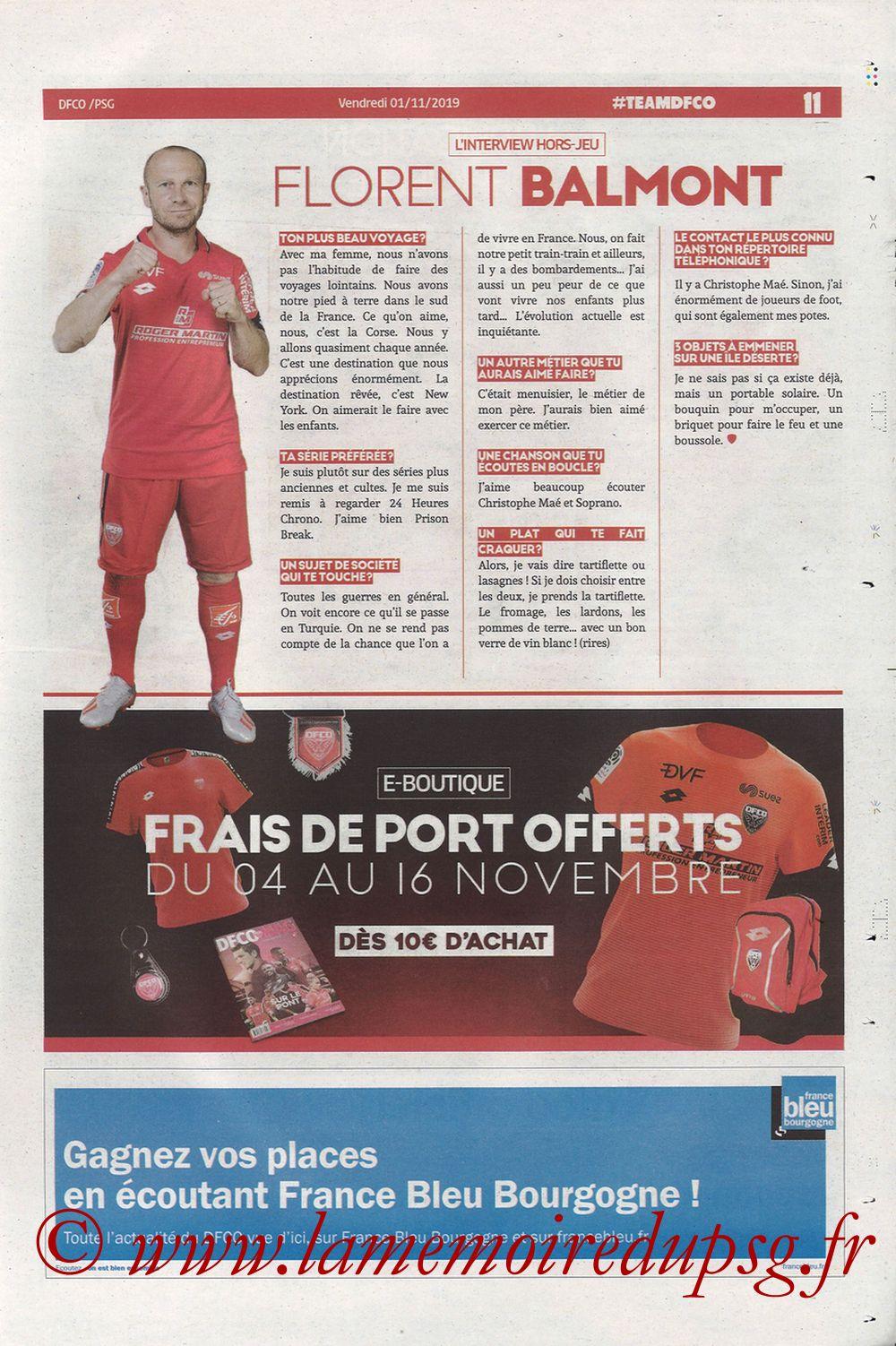 2019-11-01  Dijon-PSG (12ème L1, Chouett Infos) - Page 11