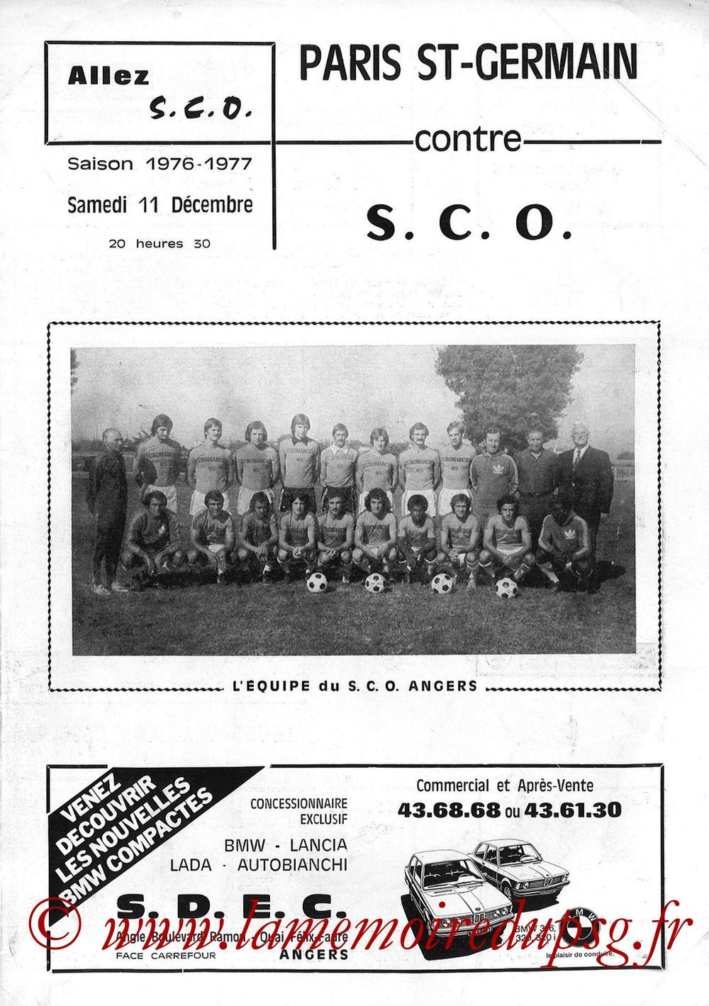 1976-12-11  Angers-PSG (18ème D1, Allez SCO)